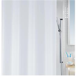 Κουρτίνα μπάνιου μονόχρωμη λευκή 100% peva 180Χ200 cm