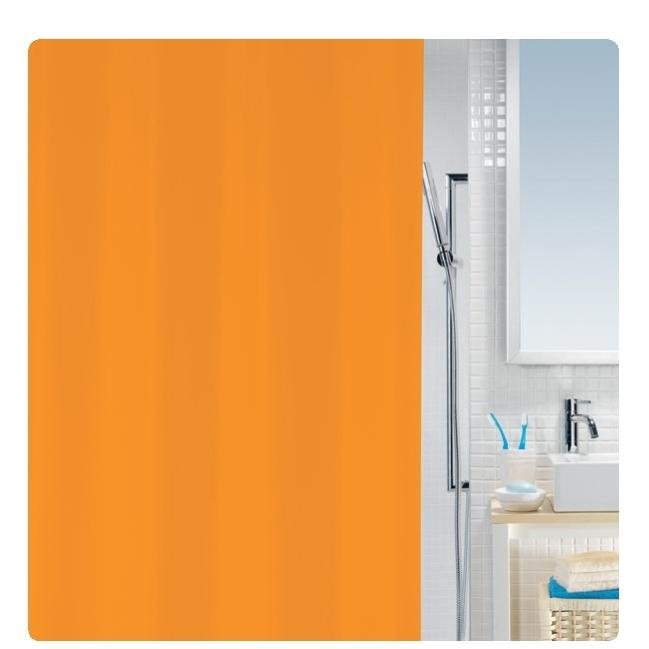 shower curtain orange 100 peva 180x200 cm. Black Bedroom Furniture Sets. Home Design Ideas