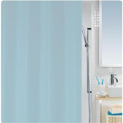 Κουρτίνα μπάνιου μονόχρωμη γαλάζια 100% peva 180Χ200 cm