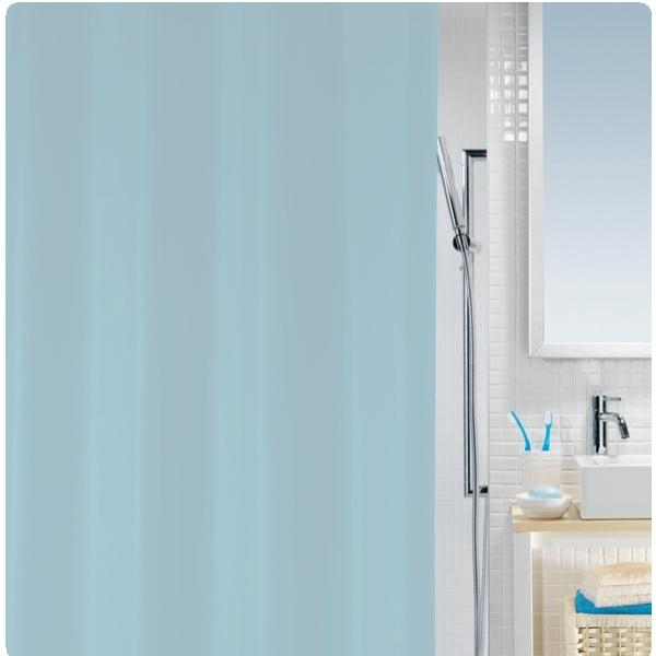 shower curtain light blue 100 peva 180x200 cm. Black Bedroom Furniture Sets. Home Design Ideas