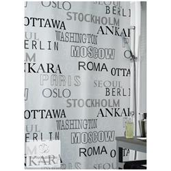 Shower curtain city 100% peva 180X200 cm