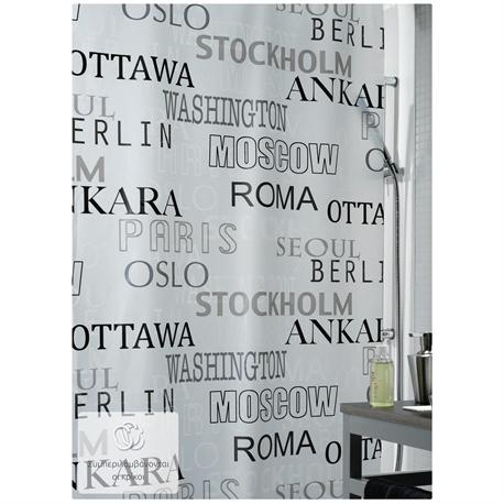 Shower curtain city 100% peva 180X200 cm