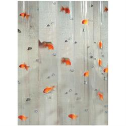 Shower curtain goldfish 100% pvc 180X200 cm