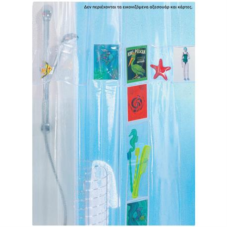 Shower curtain pop 100% pvc 180X200cm