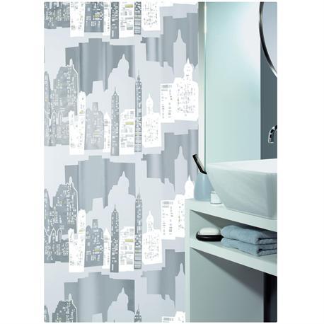 Shower curtain horizon 100% peva 180X200 cm