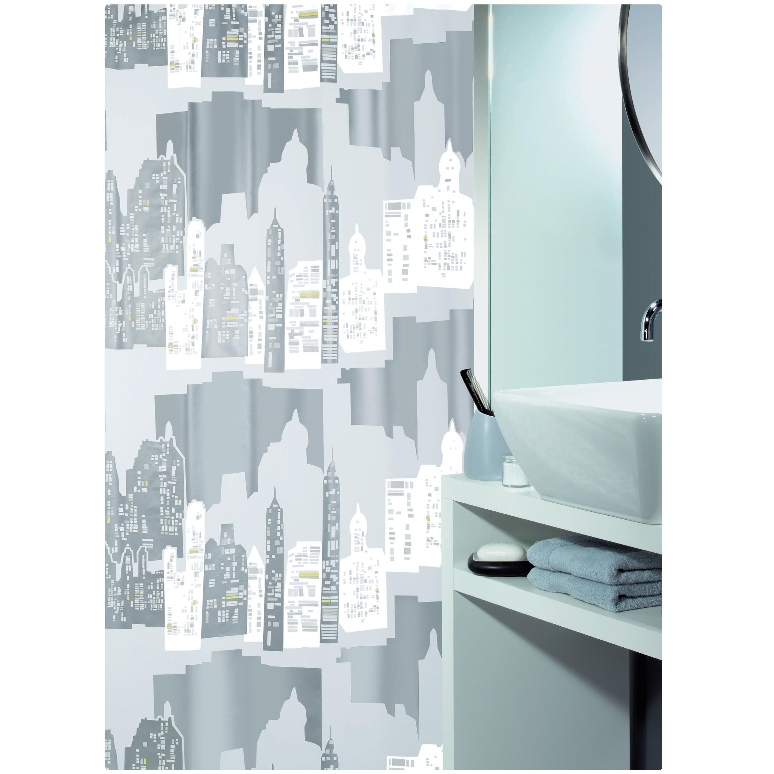 shower curtain horizon 100 peva 180x200 cm. Black Bedroom Furniture Sets. Home Design Ideas