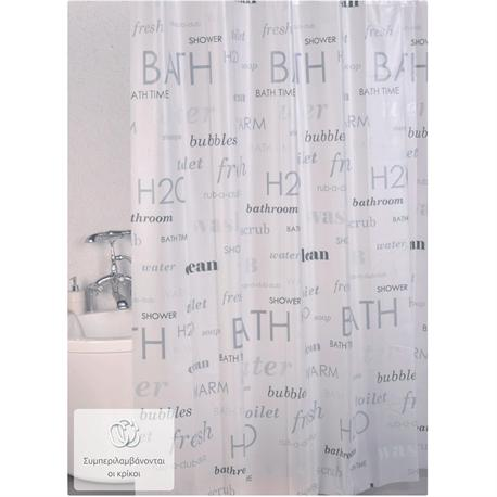 shower curtain bath 100 peva 180x200 cm. Black Bedroom Furniture Sets. Home Design Ideas