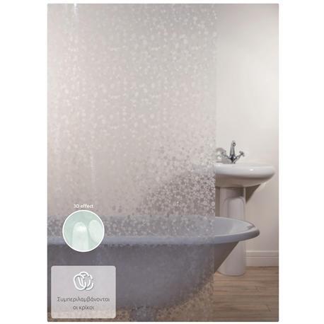 Shower curtain clear 100% peva 180X200 cm