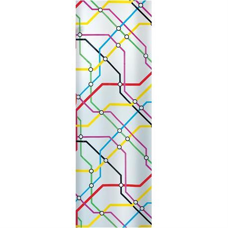 Shower curtain underground 100% peva 180X200 cm