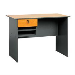 Γραφείο 1 σ. γκρί-cherry 90Χ45Χ73