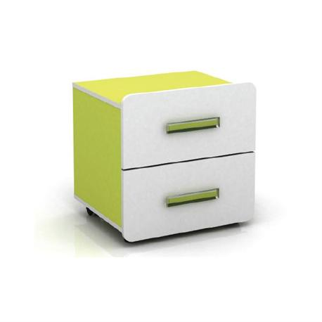 Bed side table white-lime 40X40X47