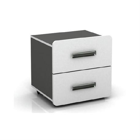 Bed side table white-grey 40X40X47
