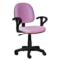 Καρέκλα γραφείου με μπράτσα ροζ 59Χ58Χ81/99