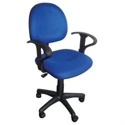 Καρέκλα γραφείου με μπράτσα μπλέ 59Χ58Χ81/99
