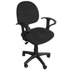 Καρέκλα γραφείου με μπράτσα μαύρη 59Χ58Χ81/99