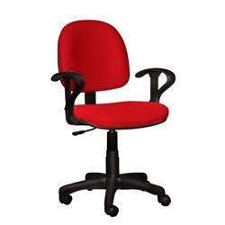 Καρέκλα γραφείου με μπράτσα κόκκινη 59Χ58Χ81/99