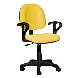 Office chair whit arms yellow 59Χ58Χ81/99