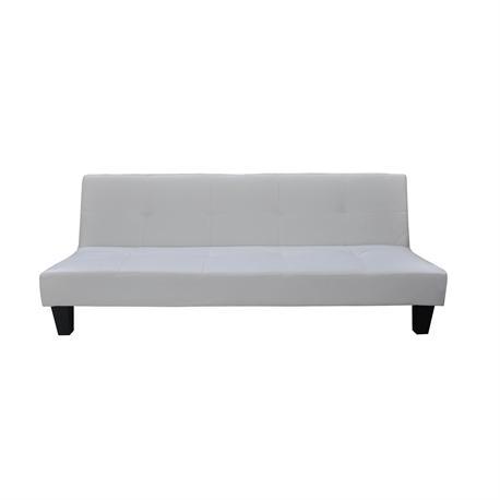 Sofa-bed white PU CLICK CLACK