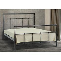 Iron Double bed TINOS 160X200 cm