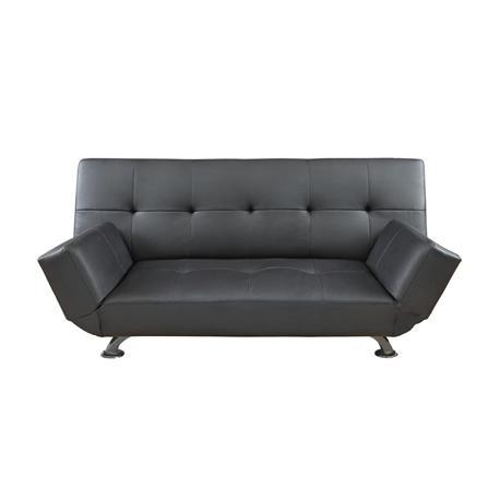 Sofa-bed black PU
