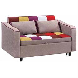 Sofa-bed with arms patchwork