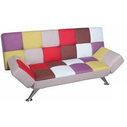 Καναπές-κρεβάτι ύφασμα patchwork