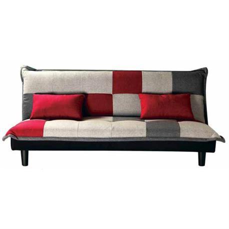 Καναπές-κρεβάτι click-clack ύφασμα patchwork