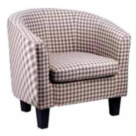 Armchair with checked beige