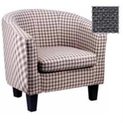 Armchair with checked dark grey