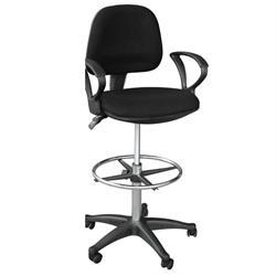 Ψηλή καρέκλα γραφείου με μπράτσα μαύρη 47Χ45Χ106/126