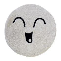 Cotton bathmats smille white Ø60 cm