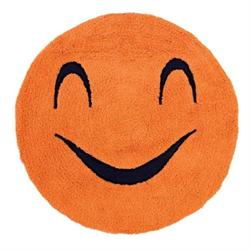 Βαμβακερό χαλάκι μπάνιου smille orange Ø60 cm