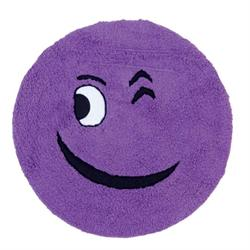 Cotton bathmats smille purple Ø60 cm