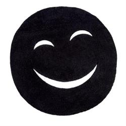 Cotton bathmats smille black Ø60 cm