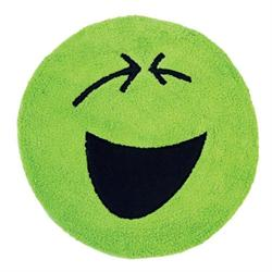 Cotton bathmats smille green Ø60 cm