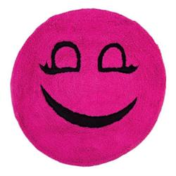 Cotton bathmats smille fuchsia Ø60 cm