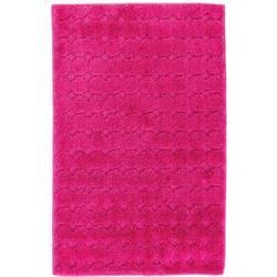 Χαλάκι μπάνιου Design fuchsia 100% polyester 50X80 cm