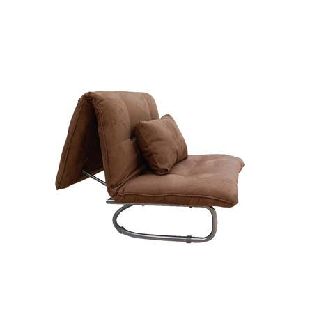 Πολυθρόνα-κρεβάτι ύφασμα καφέ