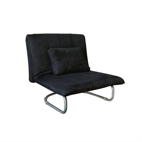 Πολυθρόνα-κρεβάτι ύφασμα μαύρο