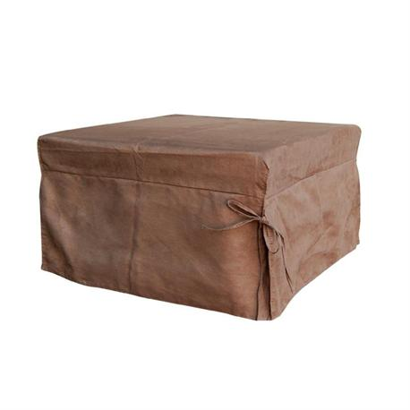 Stool -bed fabric brown