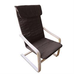 Armchair birch fabric brown