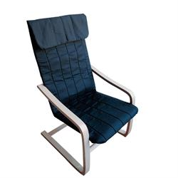 Armchair birch fabric black