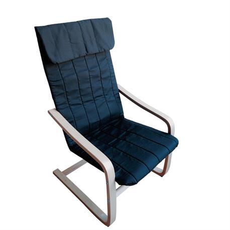 Armchair birch fabric black