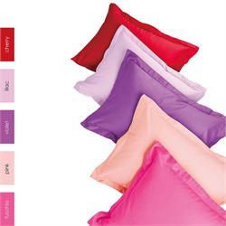 Bedsheet single 170Χ270 cm -UNICOLOR Cherry