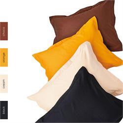 Bedsheet single 170Χ270cm - UNICOLOR Orange