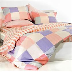 Set bedsheets single+1 Pillow case-COL.IN SQUARE