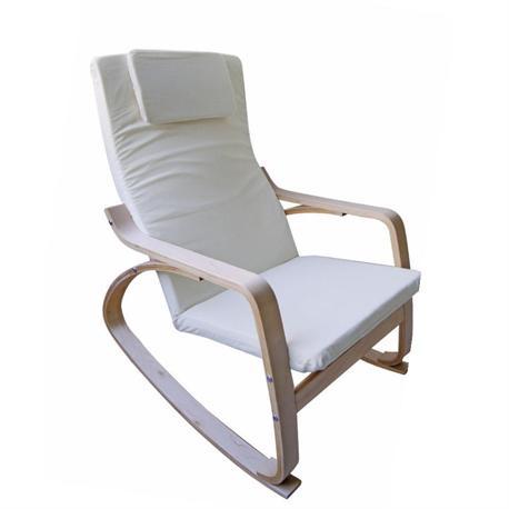 Armchair birch fabric white