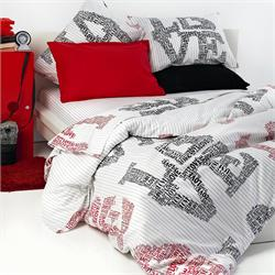 Set bedsheets single+1 Pillow case - AMORE