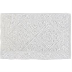 Βαμβακερό χαλάκι μπάνιου retro white 50Χ80 cm