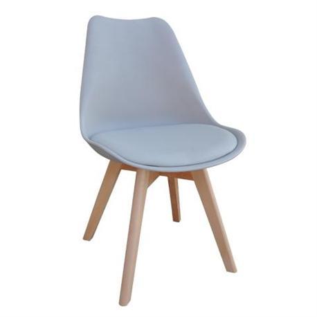 Καρέκλα γκρί ΡΡ-κάθισμα PU